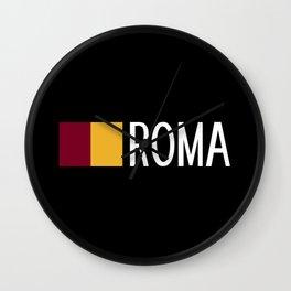 Italy: Roman Flag & Roma Wall Clock