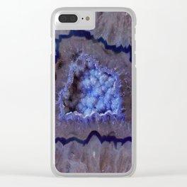 Quartz Inside Geode rustic decor Clear iPhone Case