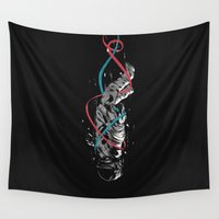 gravity Wall Tapestries featuring Gravity by Luis Patino