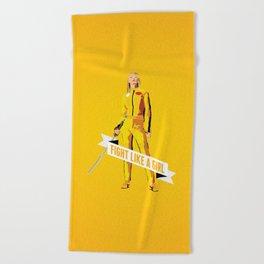 Fight Like a Girl: Beatrix Kiddo Beach Towel