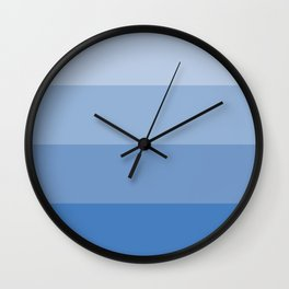 Four Shades of Blue Wall Clock