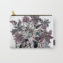 poinsettia winter pattern combination Carry-All Pouch