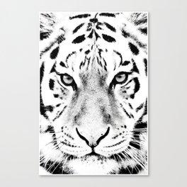 White Tiger Print Canvas Print
