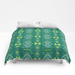 green stripes woven pattern Comforters