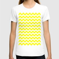 chevron T-shirts featuring Chevron (Yellow/White) by 10813 Apparel