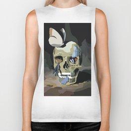 Skull done in Illustrator Biker Tank