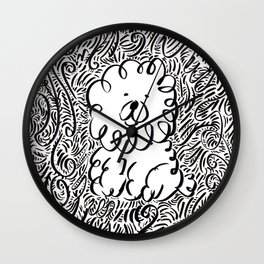 Fluffy Dog Wall Clock
