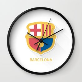 Barcelona FC Flat Logo Wall Clock