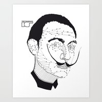 dali Art Prints featuring DALI by pointing@faces