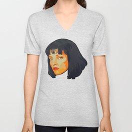 Pulp Fiction Mia Wallace Portrait Unisex V-Neck
