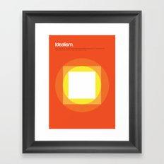 Idealism Framed Art Print