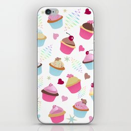 Cupcakes with love iPhone Skin
