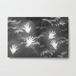 glowing hands Metal Print