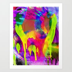 Grunge Abstract Watercolour 4 Art Print