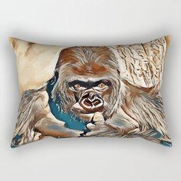 Thinking Gorilla Rectangular Pillow