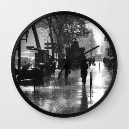 Many thanks to the rain Wall Clock
