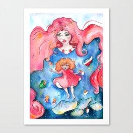 Ponyo Underwater Canvas Print