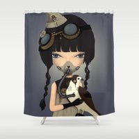 pilot Shower Curtains featuring pilot by Anne  Martwijit