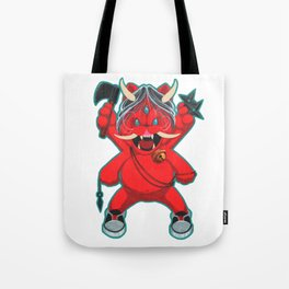 Karma Assassins/Lucky Oni Cat:  Vengeance Mode Tote Bag