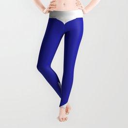 Heart (Navy Blue & White) Leggings