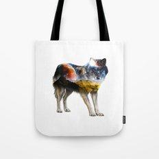 Wolf Landscape Tote Bag