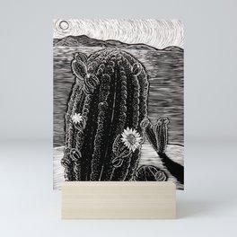 Cactus Beach. Mini Art Print
