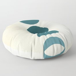 Moon Phases in Teal Floor Pillow