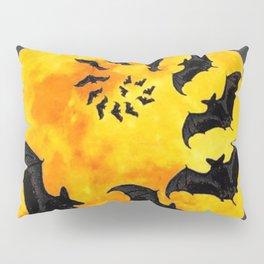HALLOWEEN BAT INFESTED HAUNTED MOON ART DESIGN Pillow Sham