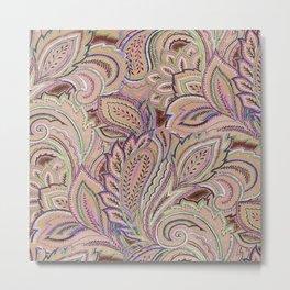 paisley warm Metal Print