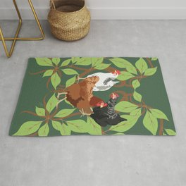 12 Days of Christmas: Three French Hens Rug