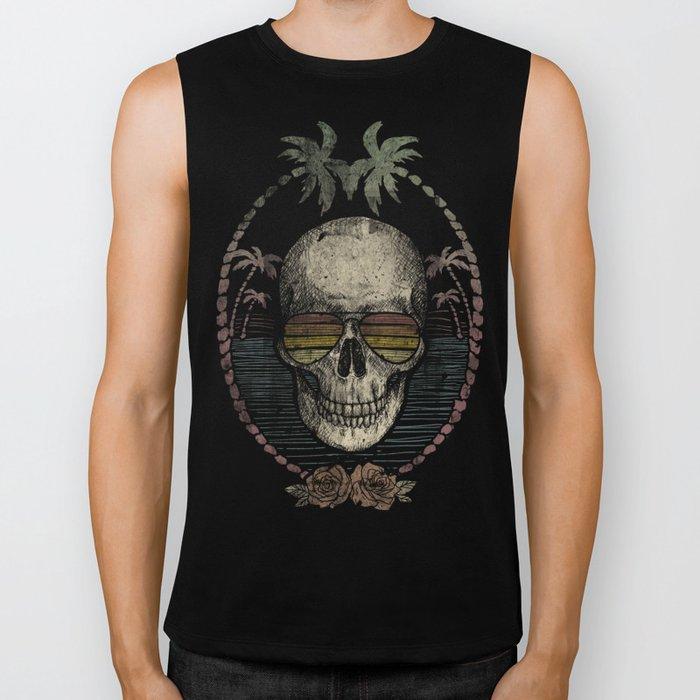 Palm Skull Biker Tank