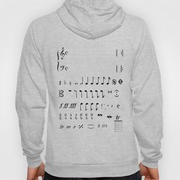 Musical Notation Hoody