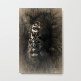 Leopard Sketch Art Metal Print