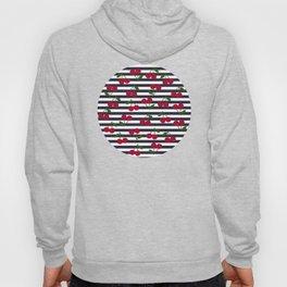 Cherry stripe pattern Hoody