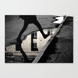 Across the puddle Canvas Print