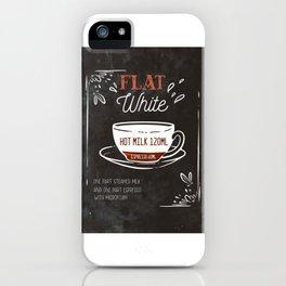 Flat White Espresso Milk Breakfast Barista Coffee iPhone Case