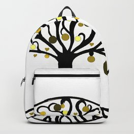 """""""Yggdrasil"""",Golden,Tree of Life,HOME DECOR,Duvet Covers,Comforters,Bed spreads,Blankets,Backpack Backpack"""