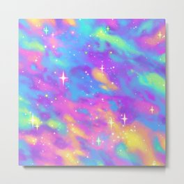 Pastel Galaxy Metal Print