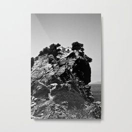 Church on a Hill (Black & White) Metal Print