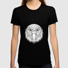 Kakapo Owl Parrot Head Drawing Black and White T-shirt