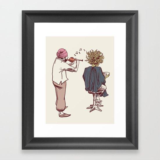 New Hairstyle Framed Art Print