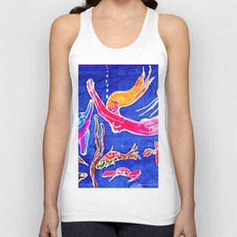 Frolicking with Dolphins       by Kay Lipton Unisex Tank Top