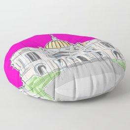 Bellas Artes architectural city ecopop Floor Pillow