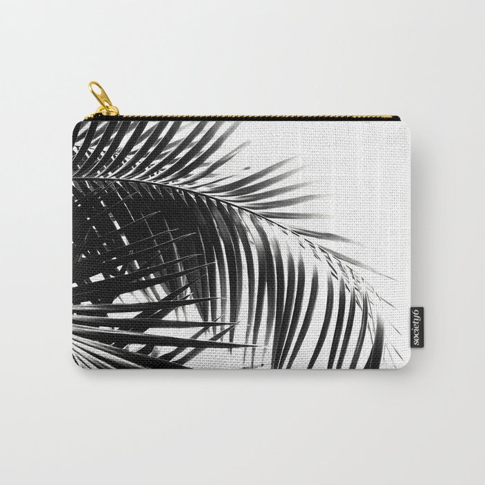 Palm Leaves Black & White Vibes #3 #tropical #decor #art #society6 Carry-All Pouch