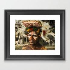 Sepik Tribesman Framed Art Print