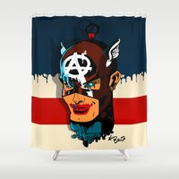 anarchy Shower Curtains featuring Captain Anarchy by el brujo