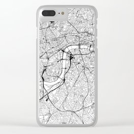 London White Map Clear iPhone Case