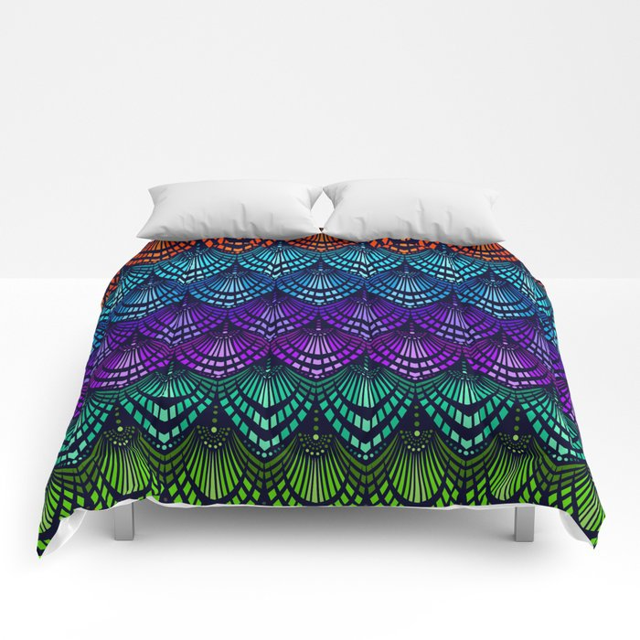 Variations on a Feather I - Deco Style Comforters