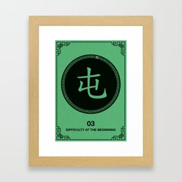 I Ching hexagrams 3, difficulty at the beginning Framed Art Print