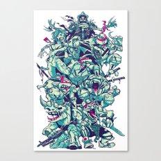 Teenage Zombie Ninja Turtles Canvas Print